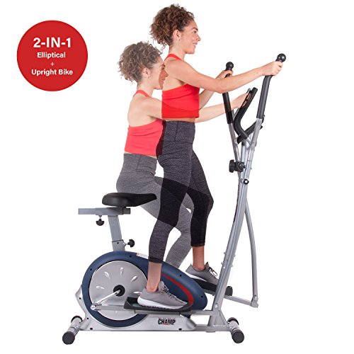 Body Champ BRM 2788 Cardio Dual Trainer, Black/Gray/Silver