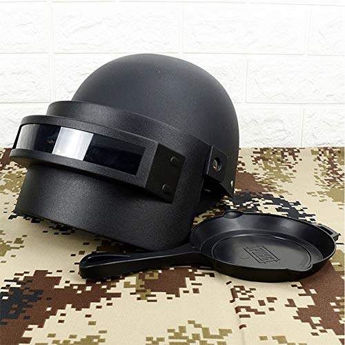 Amazon.com : QZY PUBG Level 3 Helmets Game Cool Cosplay, Battlegrounds Tactical Mask ABS Black Chicken Dinner : Sports & Outdoors