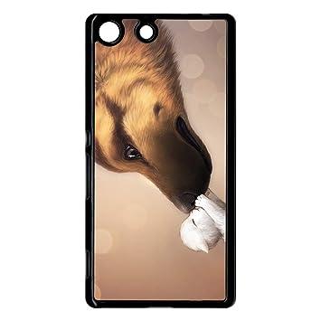 Carcasa Sony Xperia M5 amor de gato perro: Amazon.es ...