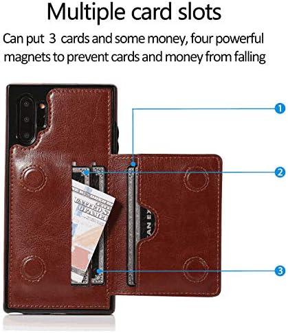iPhone 11 PUレザー ケース, 手帳型 ケース 本革 カバー収納 耐摩擦 ビジネス ポーチケース 財布 手帳型ケース iPhone アイフォン 11 レザーケース