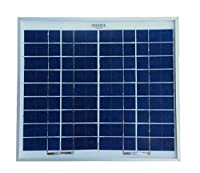 WindyNation 10 Watt 10W Polycrystalline 12V 12 Volt Solar Panel Battery Charger - Boat RV Gate Off-Grid