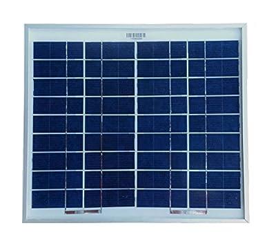 WindyNation 10 Watt 10W Polycrystalline 12V 12 Volt Solar Panel Battery Charger - Boat RV Gate Off-Grid