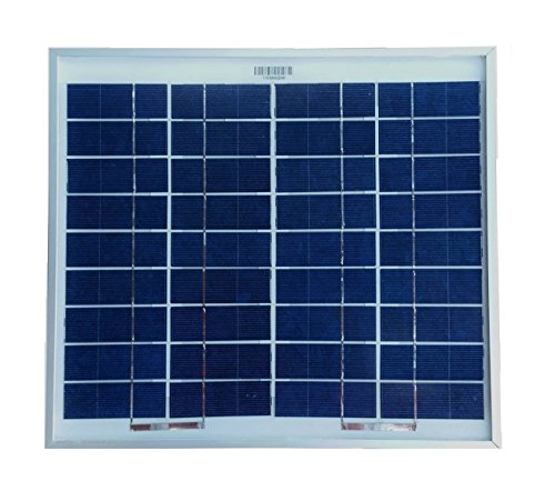WindyNation 10 Watt 10W Polycrystalline 12V 12 Volt Solar Panel Battery Charger - Boat RV Gate Off-Grid (Off The Grid Solar Panels compare prices)