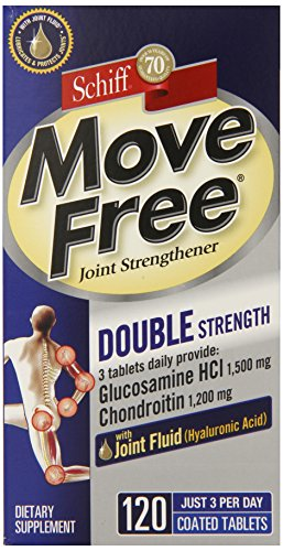 Move Free Double Strength Supplément Glucosamine Chondroïtine et mixte acide hyaluronique, 120 comte