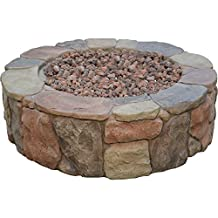 Bond 67456 Pinyon Gas Stone Look Fire Pit, 28 by 28 by 9.1-Inch