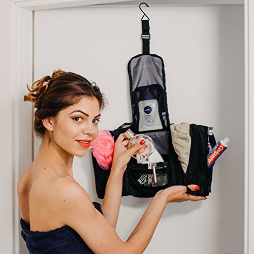 FLASH PURCHASE Premium Travel Kit: Hanging Toiletry Bag, Dopp Kit / Unisex... - 51Ski0DsC1L