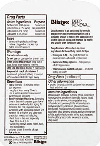 Blistex Deep Renewal, Anti-Aging Treatment, Net Wt. .13-Ounce tube Pack of 12