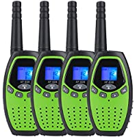 Walkie Talkies for Kids x 4 Mksutary Two Way Radio 3KM/1.9MI Range (MAX 5KM/3.1MI) Outdoor Toys for Boys Activity with Long Distance Range(Green)