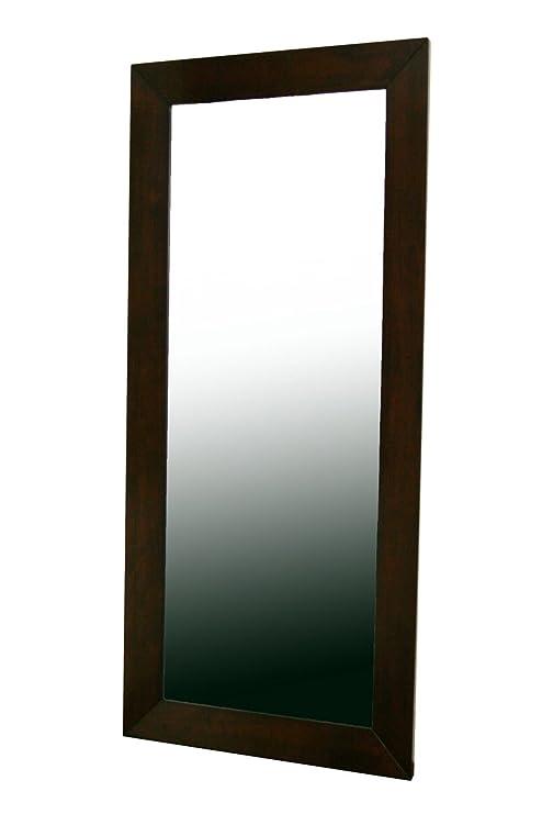 Amazon.com: Baxton Studio Doniea Dark Brown Wood Frame Modern Mirror ...
