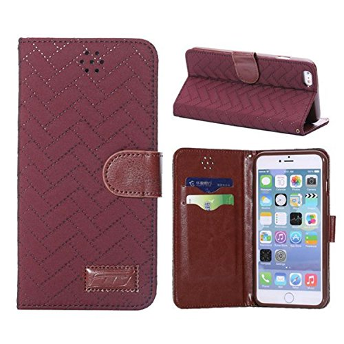 iPhone 6 Hülle,Apple iPhone 6 Hülle (5.5 Zoll) Lifetrut®[GZ Rote] Schutzhülle Flip PU Ledertasche Ständer Schutzhülle Tasche Hülle Case Cover mit Kreditkartensteckplätze für Apple iPhone 6 (5.5 Zoll)