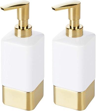 Hand Seifenspender Badezimmer Badezimmer K/üche K/üche Bad WC,Gold
