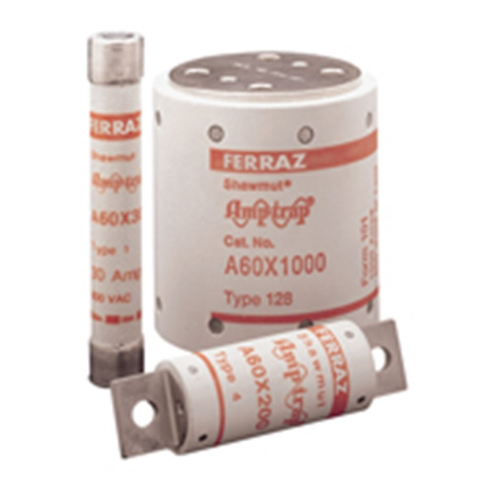 Mersen A60X Amp-Trap Form 101 Semiconductor Protection Fuse with Bolt-In Blade Mount, 600VAC, 100kA AC, 700 Ampere, 2-1/2'' Diameter x 7-1/4'' Length