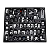 Aiskaer Professional 48pcs Sewing Machine Presser Feet Set for Brother, Babylock, Singer, Janome, Elna, Toyota, New Home, Simplicity, Kenmore,