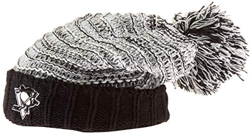 OTS NHL Pittsburgh Penguins Female Sansa Cuff Knit Cap, Black, Women