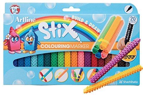 Artline Stix Coloring Markers 20 Assorted Color Set- 1.2mm Bullet