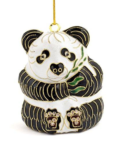 (Value Arts Christmas Ornaments, Handmade Cloisonne Panda Bear Ornament)