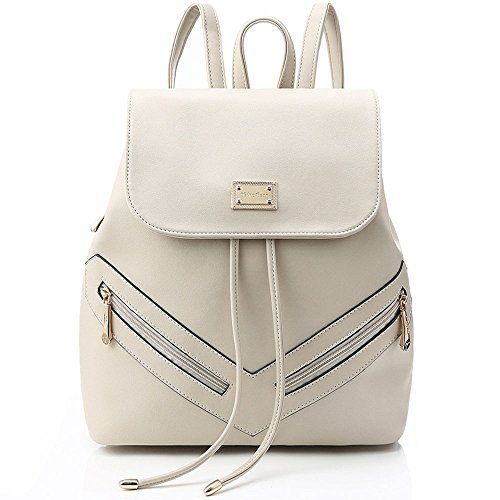 Women's Leather Backpack Teenage Girls College Student Casual Bag Purse Shoulders Bag Travel Bag Daypac (Style 1) (Teenage Fashion)