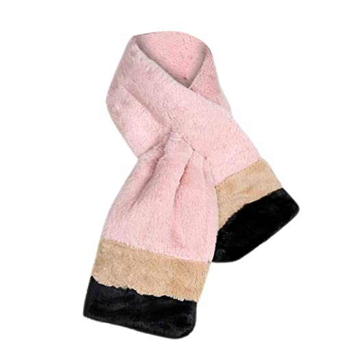 2018 New Womens Faux Fur Scarves Winter Warm Thicken Scarf at Amazon Womens Clothing store: