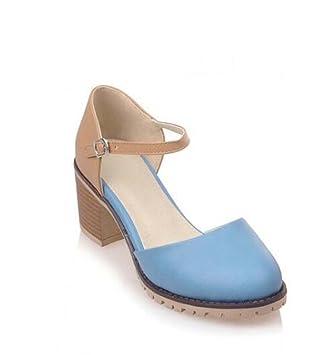 fc96113905e33b Chaussures Femme Polyuréthane Printemps Chaussures confortables Sur une  semelle à talon bas Sur un talon épais
