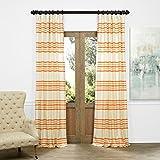 Cheap HPD HALF PRICE DRAPES JQCH-AS214316-84 Horizontal Stripe Jacquard Curtain, Madison Rust/Cream, 50″ x 84″