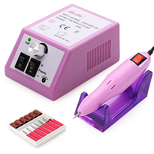 Manicure Spa Stand - Belle Electric Nail Drill Manicure Pedicure File Acrylic Kit Set Bits Gel Nail Art Salon 20000RPM