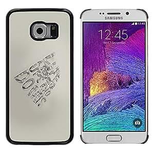 Be Good Phone Accessory // Dura Cáscara cubierta Protectora Caso Carcasa Funda de Protección para Samsung Galaxy S6 EDGE SM-G925 // Pen Paper Hand Motivational