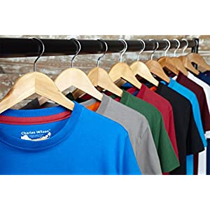 51SkldQwVgL. SS300  - Charles-Wilson-5er-Packung-einfarbige-T-Shirts-mit-Rundhalsausschnitt