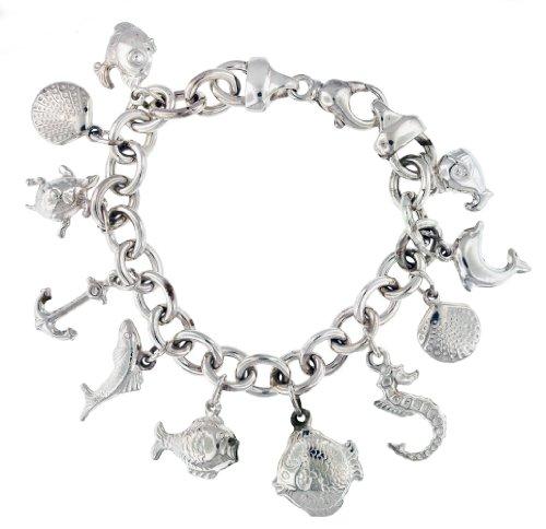 Tuscany Silver Fine Necklace Bracelet Anklet Argent 925/1000 20 Centimeters