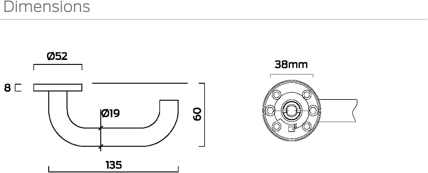 1 Paar 667029 Edelstahl Bricard Tempo T/ürrosetten