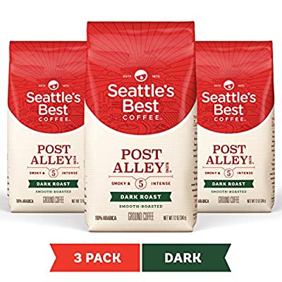 Seattle's Best Coffee Post Alley Blend Dark Roast Ground Coffee 3 Pack, Three 12-oz. Bags by Starbucks Coffee