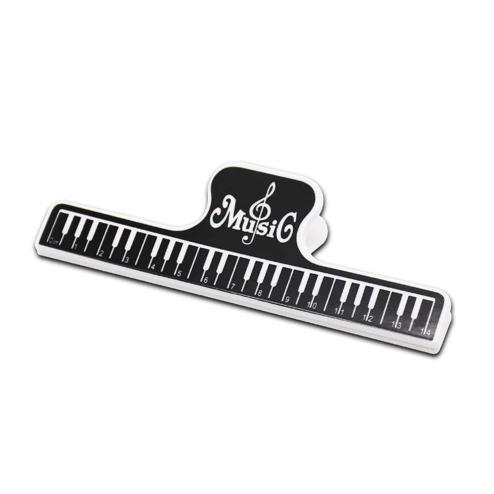2 pinzas de música para partituras, soporte de página de música, abrazaderas para carpeta, herramientas, soporte de música, piano, pinza para libro, ...