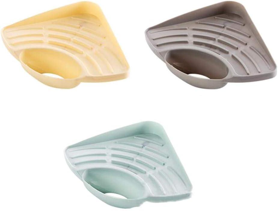 JOJOJOZZ caja de almacenamiento para frutas y verduras tri/ángulo para desag/üe de piso Cesta de drenaje para fregadero de cocina cesta de drenaje de esponja color al azar