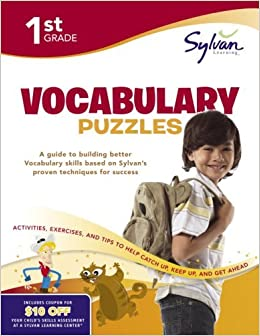 First Grade Vocabulary Puzzles by Sylvan Learning [Sylvan Learning Publishing,2009]Workbook