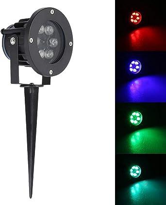Riuty Luces LED para paisajes, Luces de Seguridad para focos Enchufe de la UE AC85-265V