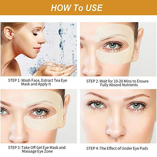 51SkmWs7WNL - Under Eye Pads, Eye Treatment Masks, Anti-Aging Mask, Eye Patches, Natural Eye Mask with Retinol, Anti Aging, Dark Circles and Puffiness, Anti Wrinkle, 50 PCS