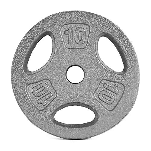 CAP Barbell Standard 1-Inch Grip Weight Plates, Single, Gray (10 Pound (Set of 4)) (Cap Barbell 40 Pound Adjustable Dumbbell Set)
