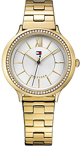 Tommy Hilfiger Women's Candice Quartz Watch with Gold-Tone-Stainless-Steel Strap, 16 (Model: 1781856)