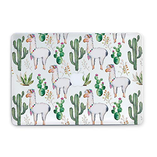Durable Laptop Case Art Designed Protective Cover for MacBook Laptop Modern Hard Case (Cacti Llamas, Air 13 2018 (A1932))