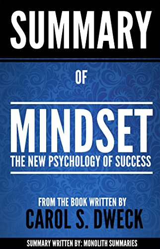 Amazon summary of mindset by carol s dweck the new amazon summary of mindset by carol s dweck the new psychology of success ebook monolith summaries kindle store fandeluxe Choice Image