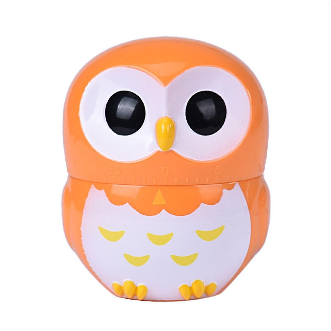 Coromose Owl Timer Kitchen 60 Minute Cooking Mechanical Home Decoration (Orange)