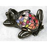 Quoizel TF6033VB Lounging Tiffany Frog Table Lamp - 1-Light - 7 Watts - Vintage Bronze (4