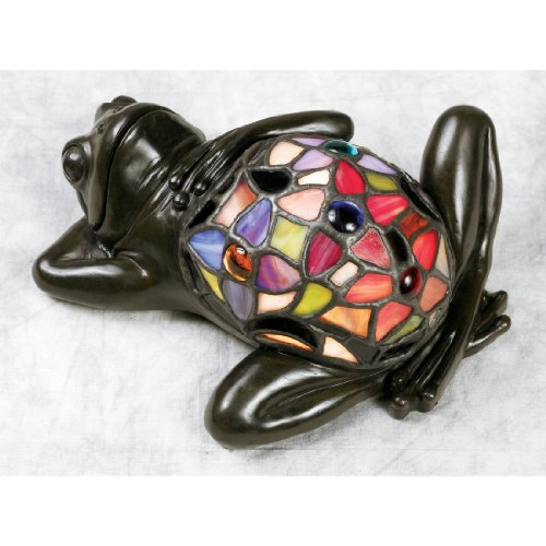 Quoizel TF6033VB Lounging Tiffany Frog Table Lamp, 1-Light, 7 Watts, Vintage Bronze (4