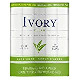 Ivory Clean Aloe Personal Bar 90 g, 10 count,Packaging may vary