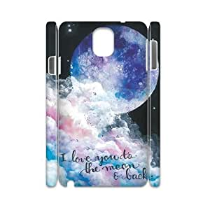 Custom 3D Case for samsung galaxy note3 n9000 w/ I Love You to the Moon and Back image at Hmh-xase (style 3)