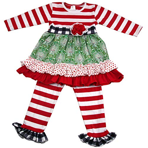 3e492b64940d6 Baby Girls Ruffle Outfits - Toddler Girls Fall Winter New Years Holidays  Christmas Wear Clothing Sets