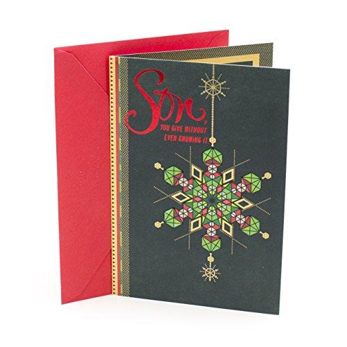 Hallmark Mahogany Christmas Greeting Card to Son (Patterned Snowflake)
