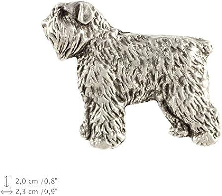 Tie clip for dog lovers Black Russian Terrier Handmade Photo jewellery Men/'s jewellery