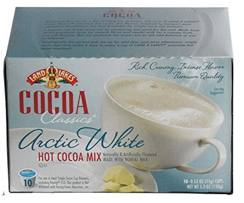 White Chocolate Cocoa (LAND O LAKES Cocoa Single Serve K Cups - Arctic White 10 Cup Box)