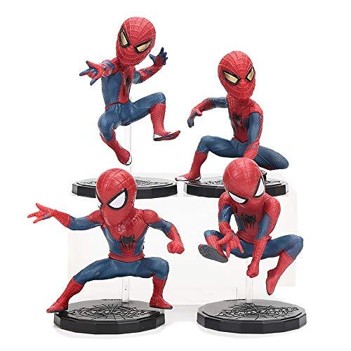 - emark toys Spiderman Mini Figure Superhero Collectible Set - Action Figure - Set Includes 4