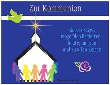 kommunion karte schreiben Kommunion Kommunionskarte Feier Party Glückwunschkarte Kinder